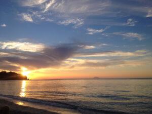Tramonto da Tropea guardando lo Stromboli Eolie